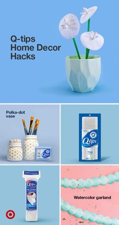 Jazz up your home this new year with stylish yet easy decor ideas. Use Q-tips items to create trendy wall art, decorative tableware, DIY vases & more. Find Q-tips items at Target. Family Crafts, Diy Home Crafts, Easy Diy Crafts, Diy Arts And Crafts, Jar Crafts, Creative Crafts, Crafts For Kids, Home Decor Hacks, Decor Ideas