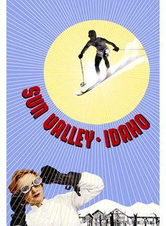 vintage ski poster - Sun Valley