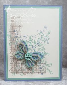 Timeless Textures stamp set from Stampin' Up! helps you create awesome backgrounds for your handmade cards!  Try this yummy color combination:  Tip Top Taupe, Mint Macaron, and Wisteria Wonder!