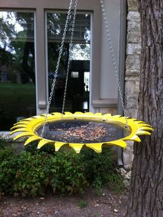 Tire Bird Feeder