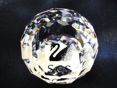 Swarovski Crystal Paperweight SCS Black by KKCollectibleCollage, $22.50 https://www.etsy.com/listing/172083778/swarovski-crystal-paperweight-scs-black