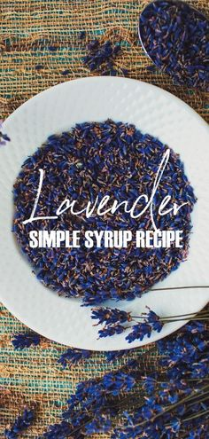 Lavender simple syru