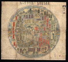 Korean World Map mid 18th century