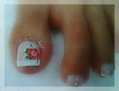 Pedicure Nail Art, Toe Nail Art, Diy Nails, Cute Nails, Pretty Toes, Pretty Nails, 3d Flower Nails, Cute Pedicures, Toe Nail Designs