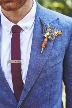 DIY Boutonniere | Tennessee | Photo: Stephanie Sorenson Photography | http://knot.ly/6496BIXta | http://knot.ly/6497BIXtx