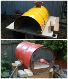 Discover thousands of images about DIY oil drum pizza / stone bake ovens Wood Oven, Wood Fired Oven, Wood Fired Pizza, Pizza Oven Outdoor, Outdoor Cooking, Barbecue Four A Pizza, Oven Diy, Bread Oven, Fire Pizza