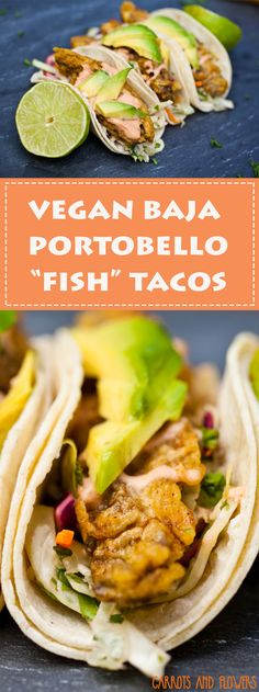 Vegan Fish Tacos | Gluten-free Vegan | Vegan Taco Recipe | Vegan Street Food | Portobello Tacos