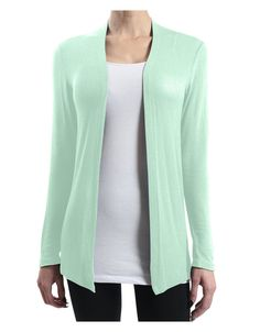 Keep it trendy yet casual with our sheer long sleeve open cardigan. Layer it with our cami tank top and skinny jeans for a stylish outfit choice. Feature - Sheer long sleeve open cardigan - Double sti