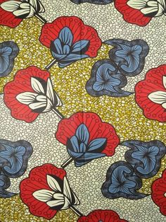 6 Yards Cotton African Fabric Super Wax Print sw36107