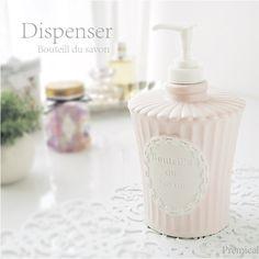 液体ハンドソープディスペンサー(ピンク)【ボトル・デ・サボン】