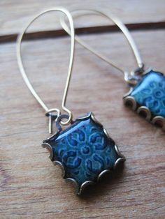 Celtic Church tile earrings Celtic jewelry by ShrunkenCatHeads, $27.00