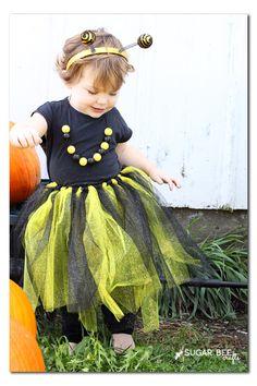 bee costume easy - no sew!