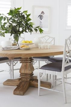 Australian Coastal Style - 7 steps to achieve this look - Making your Home Beautiful Round Dining, Dining, Dining Room Wall Art, Dining Room Design, Home Decor, Breakfast Nook Decor, Dining Room Decor, Country Style Furniture, Coastal Style