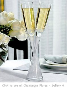Show off your unique style with these one-of-a-kind toasting flutes and cake server sets. The set includes 2 toasting flutes with a crystal. Wedding Toasting Glasses, Wedding Champagne Flutes, Toasting Flutes, Champagne Glasses, Personalized Champagne Flutes, Personalized Wedding, Personalized Gifts, Wedding Reception Decorations, Wedding Inspiration