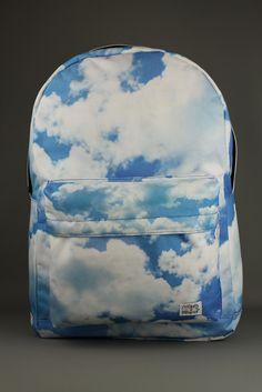 Spiral Cloud Blue Backpack Rucksack School Bag – 4 Seasons Store