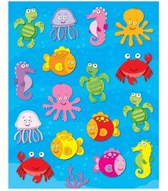 Sea Life Shape Stickers - Carson Dellosa Publishing Education Supplies
