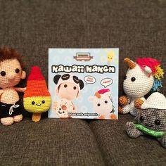 Yeah! Finally my new Dutch amigurumi book 'Kawaii Haken' has arrived. Look how proud we are.  #dendennis #amigurumi #crochet #craft #kawaii #cute #haken #häkeln