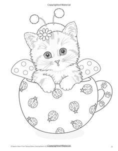 Teacup Kittens Coloring Book: Kayomi Harai: 9781497202269: Amazon ...