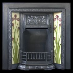 Ifonly I had the house, and money for this! / Reclaimed antique Edwardian cast iron and tiled fireplace grate
