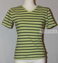 Koszulka w paski - sklep internetowy HEPIKA  Używana damska koszulka marki Adidas, w żółto-czarne paski, w stanie bardzo dobrym. Wymiary w opisie.