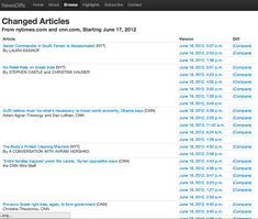 NewsDiffs | Tracking Online News Articles Over Time