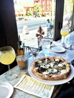 HH Funghi Pizza - Goat Cheese, Herb Roasted Mushrooms, Romano…