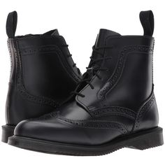 27a5d79c22833e Dr. Martens Delphine 8-Eye Brogue Boot (Black Polished Smooth) Women s.