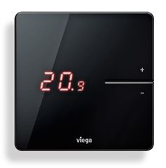 Fonterra Smart Control Area Heating Control Red Dot Design, Ui Design, Iot Smart Home, Electronic Scale, Black Screen, Heating And Cooling, Red Dots, Digital Alarm Clock, Design Awards