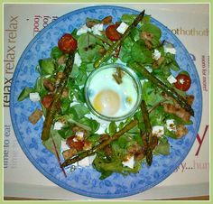 Only Crumbs Remain: Asparagus Salad with Baked Egg