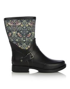 Ugg Women's Liberty William Morris Print Sivada Short Welly Boots - Blush Floral