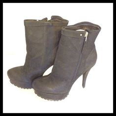 Kelsi Dagger Shania Black Leather Ankle Boots New in box, no defects. Side zipper. Five inch heal. 1.5 inch platform. Really nice boots. Kelsi Dagger Shoes Ankle Boots & Booties