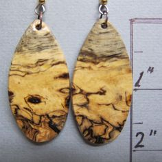 Unique Sindora Burl Exotic Wood Long Earrings Handcrafted @artnmore