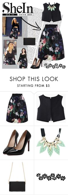 """Skirt from SHEIN ! ♥"" by miss-maca ❤ liked on Polyvore featuring Jil Sander, SHOUROUK and shein"