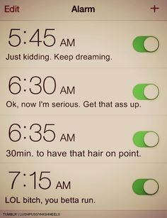 This is what I'm going to name my alarms right now.