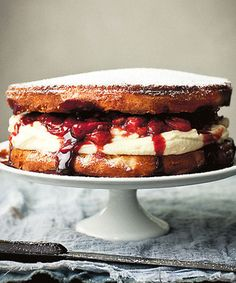 Victoria sponge with a saucy twis
