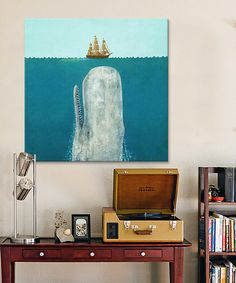 Look what I found on #zulily! Terry Fan The Whale Square Wrapped Canvas #zulilyfinds