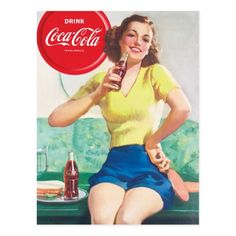 Purchase merchandise from Zazzle's Coca-Cola Shop store. Shop for products with officially licensed images & designs. Coca Cola Gifts, Coca Cola Party, Coca Cola Store, Pepsi Cola, Retro Logos, Retro Ads, Vintage Advertisements, Coca Cola Merchandise, Coca Cola Kitchen