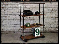 Industrial Bookshelf | Vintage Storage Unit | Industrial Furniture