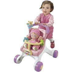 New Fisher-Price Pink Stroller With Doll From Smyths Toys | eBay