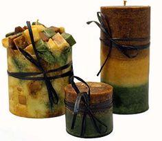 Handmade Kudzu scented candles.