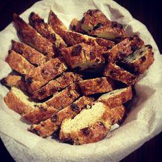 Итальянское печенье бискотти с изюмом