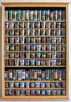 LARGE, 144 Shot Glass Display Case Wall Holder Cabinet, 1 door for Exposure Shot Glass Holder, Glass Holders, Glass Shelves, Display Shelves, Shelving, Shot Glasses Display, 10 Year Plan, Business Coach, Glass Display Case