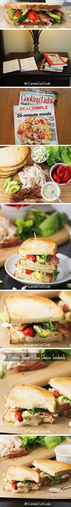 CHICKEN, BACON and BLUE CHEESE SANDWICHES are perfect for a fast and fresh lunch!