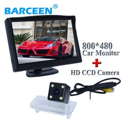 "Fit for  Benz B class  wire car parking camera 170 wide viewing degree+universal car monitor bring 5"" wide screen HD LCD 800*480"