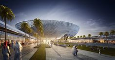 Perkins+Will's Raised Bowl Design to be the Largest Stadium in the UAE,Courtesy of Perkins+Will
