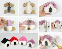 Tutos et DIY faire des pompons en laine
