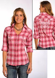 d661104c Panhandle Slim Ladies Stolen Kisses Plaid Snap Shirt: Sierra Western Wear #Cowgirl  Western Fashion