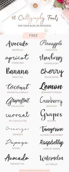 gosto da fonte Cranberry beautiful feminine typography font type design cursive script free download