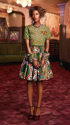 Fashion - Vlisco V-Inspired  I especially like the cropped shirt