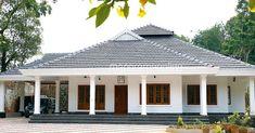 Kerala Traditional House, Traditional House Plans, Village House Design, Kerala House Design, Family House Plans, Dream House Plans, Villa Design, Roof Design, Dream Home Design